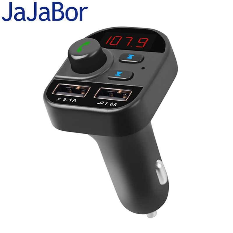 JaJaBor Loa Nghe Nhạc Kết Nối Bluetooth Không Dây Phát FM Tay Gọi A2DP Chơi Nhạc 5V 1 MỘT/3.1A Dual cổng USB Trên Xe Hơi
