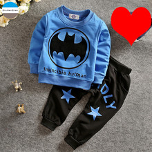 2017 cartoon 0 to 24 months baby boys and girls clothing sets coat + pants children's clothes suit infant kids casual wear(China)