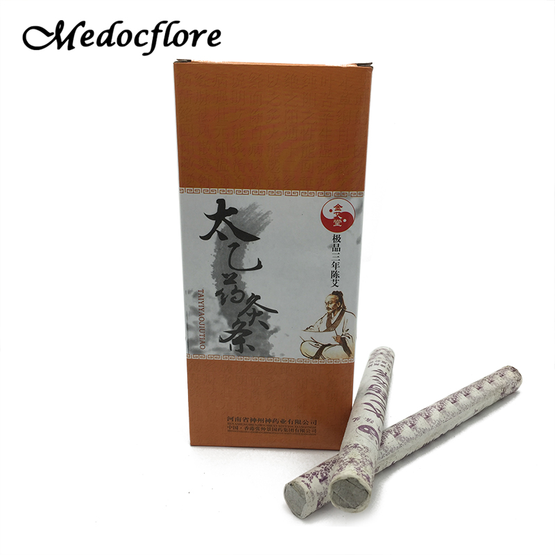 Moxibustion Stick Set Chinese Old Methods Moxa Stick  Moxa Wool Moxibustion 18mm* 200mm *10pcs/Set