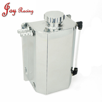 Universal 2 Litre 2000ml Aluminum Oil Catch Can Tank Reservoir with Drain Plug