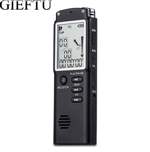 Gieftu T60 профессиональный 8 ГБ время Дисплей Запись цифровой Голос Аудио Регистраторы диктофон MP3-плееры
