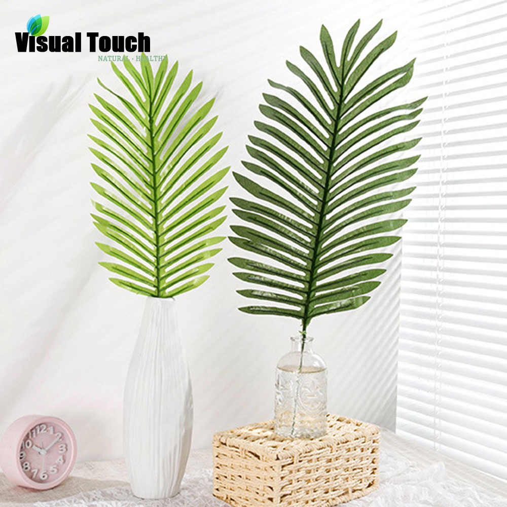 Visual Touch 12pcs Set Artificial Tropical Scutellaria Simulation Leaf for Luau Theme Party Decorations DIY Photo Props