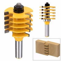 1pc Adjustable Box Finger Joint Router Bit 1 2 Inch Shank Cone Tenon Woodworking Cutter For