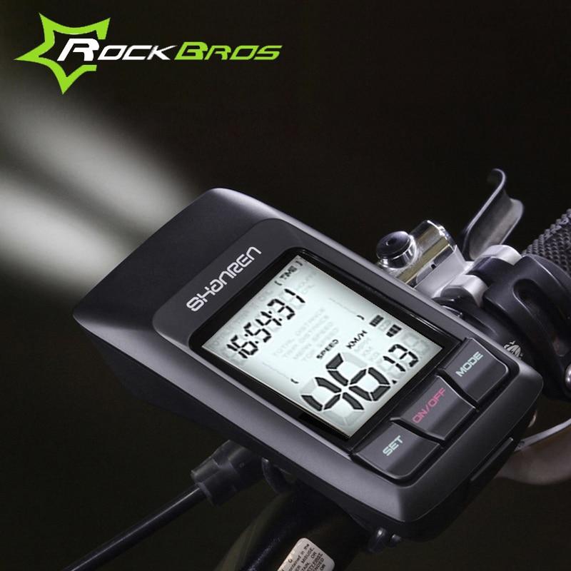 ROCKBROS Bicycle 2.4G Wireless USB Speedometer-Raptor Bike Computer & 300LM Light Multifunctional Cycling Waterproof Stopwatch 45 patterns computer programming bike bicycle light