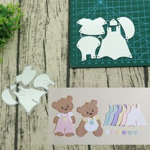 Bear and Clothes Metal Cutting Dies for Card Making
