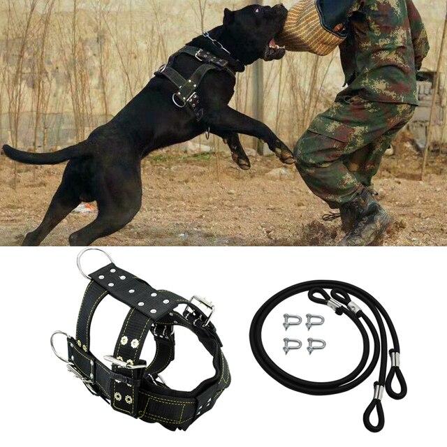 قوي نايلون حزام لجر الحيوانات الأليفة الكلب منتجات التدريب الكلاب الكبيرة الوزن سحب تسخير لالراعي الألماني K9 الكلب أجيليتي المنتج