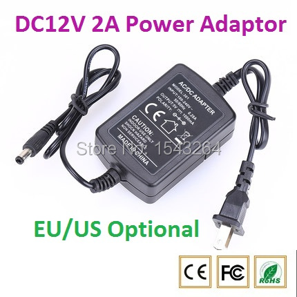 AC 100-240V DC 12V 2A EU/US Plug AC/DC Power adapter charger Power Adapter for CCTV Camera (2.1mm * 5.5mm) new dc 12v 2a ac 100 240v eu us uk au dc adapter charger power supply for led strip light cctv 2 5 5 5mm for dvr camera systems
