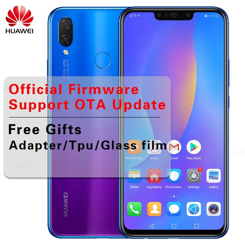 Huawei nova 3i nova 3i мобильного телефона 4G/6G RAM 6 4G/128G ROM 6,3 дюймов Kirin710 Octa Core Android 8,1 Стекло телефон тела смартфона
