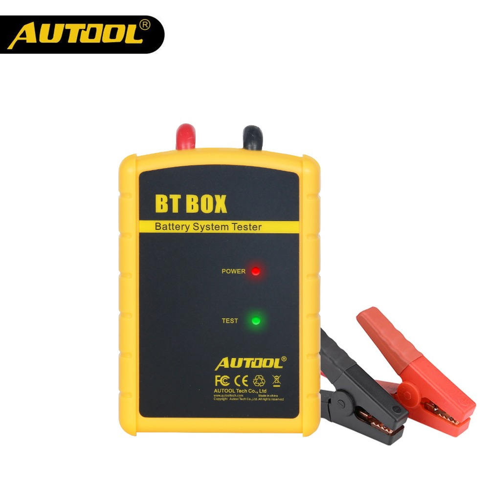 AUTOOL BT BOX 12V Car Battery Tester Bluetooth Wireless Battery Charge Cranking Analyzer Auto Diagnostic For Android IOS Phone
