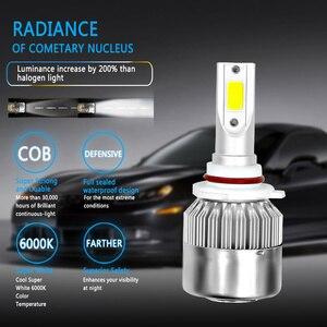 Image 4 - 2 قطعة C6 سيارة Led مجموعة مصابيح سيارة LED H4 LED H7 H11 H13 H1 H3 9004 880 9005 9006 COB 6000K 72W 8000LM مرحبا/لو شعاع توربو ضوء