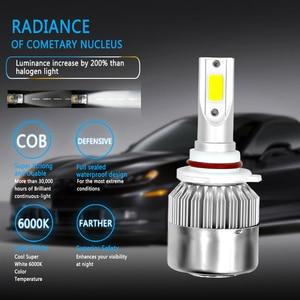 Image 4 - 2PCS C6 ชุดไฟหน้ารถLed LED H4 LED H7 H11 H13 H1 H3 9004 880 9005 9006 6000K 72W 8000LM Hi/Lo Beam Turbo Light