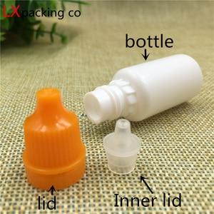 Image 3 - 100 шт., бесплатная доставка, 5, 10, 20 мл, белая пластиковая бутылка для капель под глаза, эссенция, парафы, суп, вода, жидкая капля, пустая Косметическая Емкость