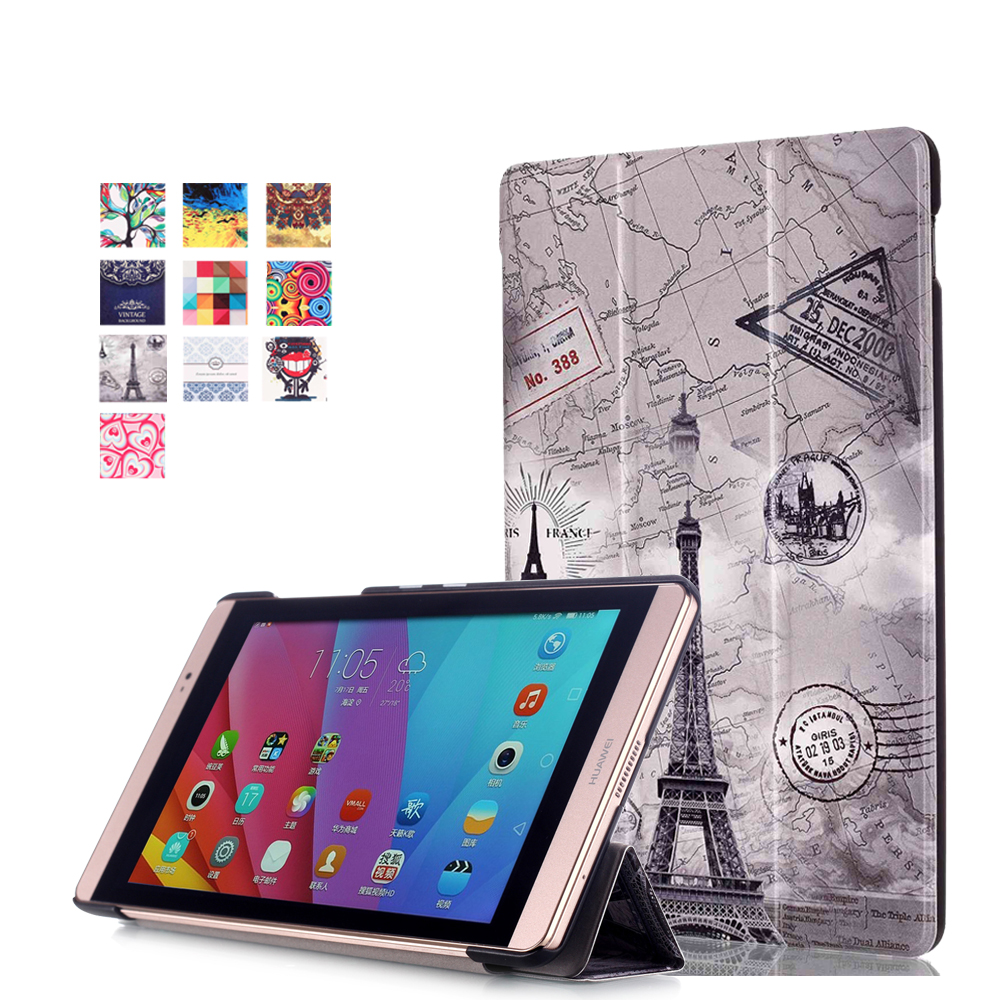 Magnet Ultra thin Smart pu leather Case cover For Huawei MediaPad M2 M2-801W M2-803L Huawei M2 8.0 tablet case +screen protector magnet flip cover for huawei mediapad m2 10 1 m2 a01w a01w tablet case pu leather case with hand holder and card slot