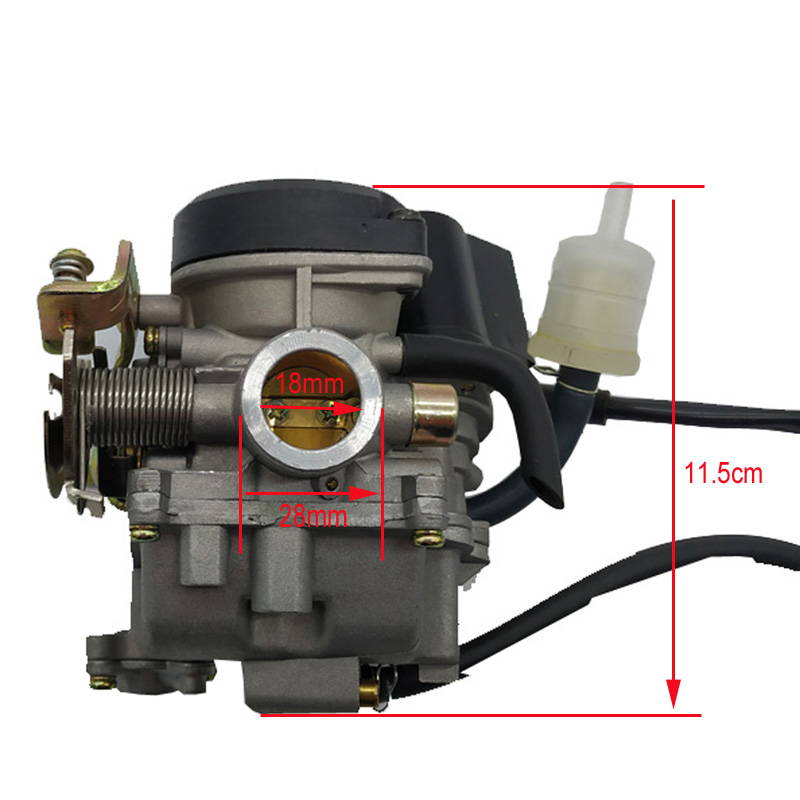 CVK CARBURETOR MOPED Keihin SCOOTER 139QMB GO-KART 50cc QUADS PD18J 18mm GY6 ATV BUGGY
