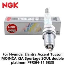 1pieces NGK Car Spark Plugs For Hyundai Elantra Accent Tucson MOINCA KIA Sportage SOUL double platinum PFR5N-11 5838