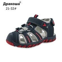 Apakowa/Новая Брендовая детская летняя обувь сандалии для мальчиков детские ортопедические арки поддержки спортивные сандалии с закрытым носком для мальчиков размер 21-32