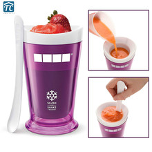 Smoothie Slush Shake Maker Cup Ice Cream Molds Freeze Popsicle Spoon Makerfruit Juice Frozen Summer Cool Creative Accessories