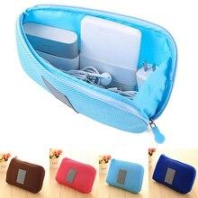 Hot item Portable Shockproof Nylon Gadget Devices USB Cable Organizer Case Storage Bag