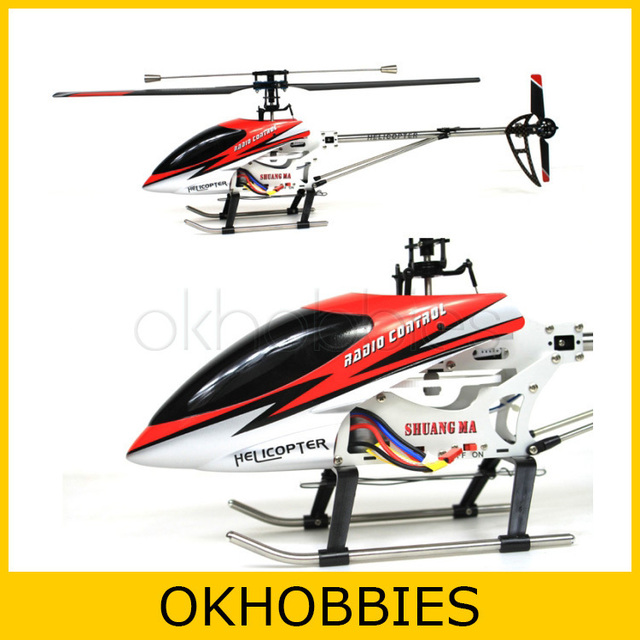 Double Horse DH 9104 71cm 3ch RC Helicopter Single Blade Mental Body (Red)