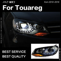 AKD Car Styling for VW Touareg LED Headlight 2011 2015 Touareg LED DRL Hid Option Head Lamp Angel Eye Bi Xenon Beam Accessories