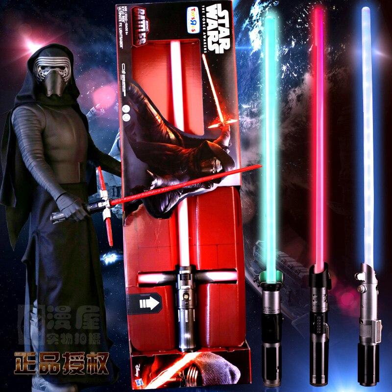 90 CM Star Wars Lightsaber Darth Vader Anakin Skywalker ObiWan KyloRen YodaStar Wars Light Saber Menthe Sound Light Saber garçons cadeau