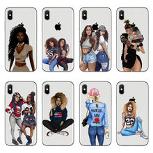 Fashion swag black girl drawing Case For iPhone XS XS Max