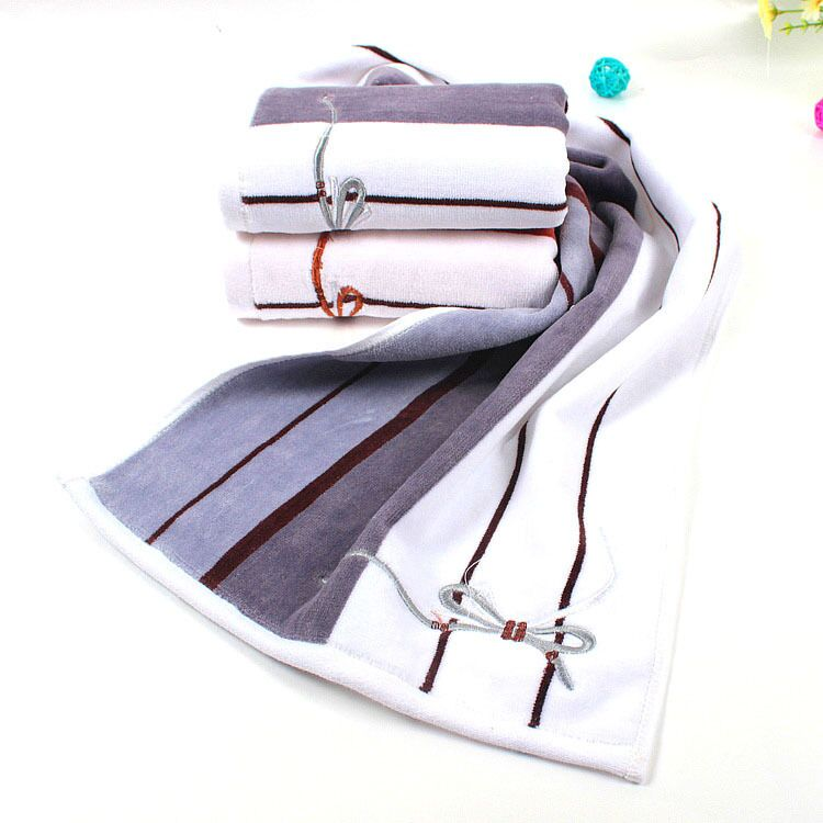 Embroidered Terry Cloth Hand Towels: 35*75cm 4pcs Embroidered Cotton Terry Hand Towels Sets