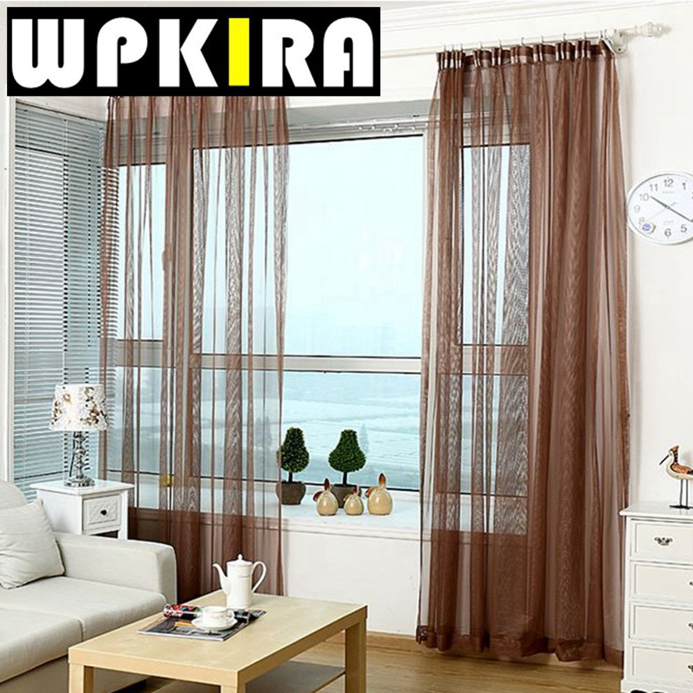 Cheap red curtains - Purple Red Tulle American Curtain Tulle Solid Sheer Net Voile Curtains Modern Curtains For Living