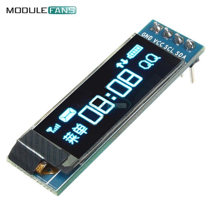 цена на 0.91 inch 128x32 I2C IIC Serial Blue OLED LCD Display Module 0.91 12832 SSD1306 LCD Screen for Arduino Backlight