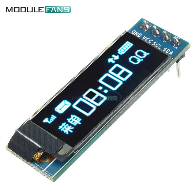 "0.91 inch 128x32 I2C IIC Serial Blue OLED LCD Display Module 0.91"" 12832 SSD1306 LCD Screen for Arduino Backlight"