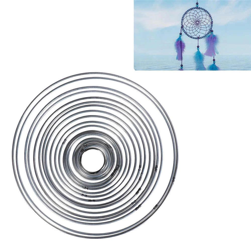 1 PC โลหะรอบดีเชื่อมโลหะ Hoop Dream Catcher Dreamcatcher แหวนหัตถกรรม Hoop ตกแต่งบ้าน DIY อุปกรณ์เสริม