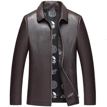 1581 New Fashion Men Spring&Autumn Clothing Genuine Leather Coat Men's Leather Jacket Coat