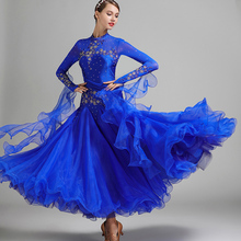 Competition-Dresses Ballroom-Dress Waltz Standard Luminous-Costumes Fringe Dance Red