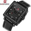 NAVIFORCE Brand Fashion Casual Mens Wristwatches Business Leather Analog Quartz Men Watch relojes hombre relogio masculino 2016