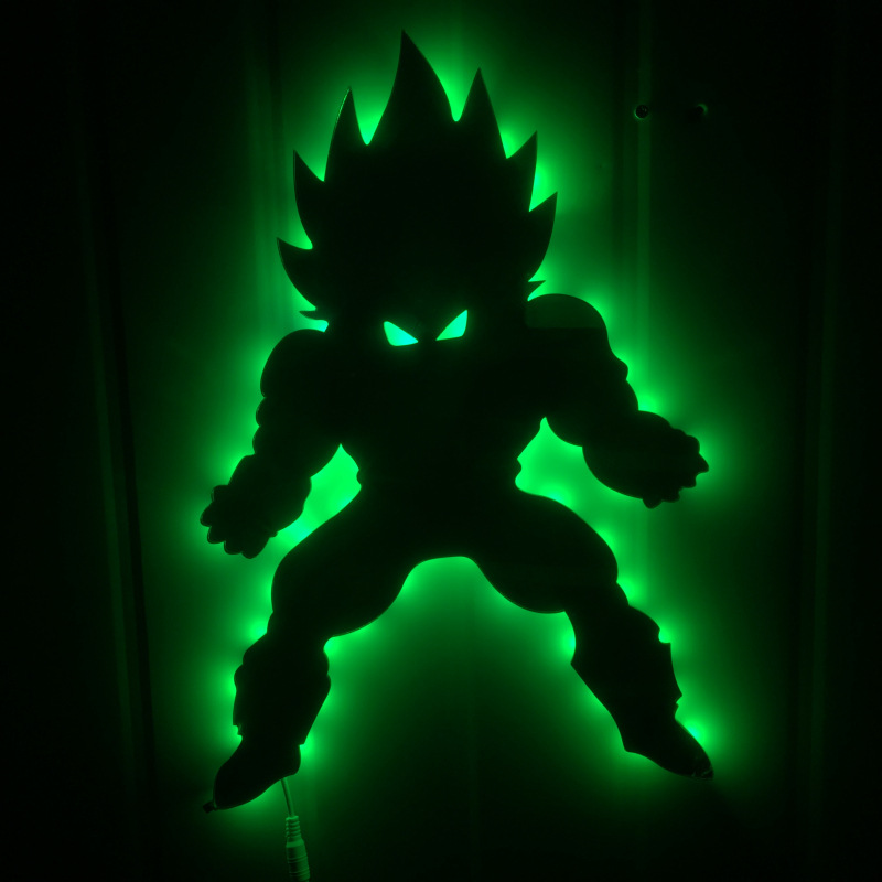 Dragon ball 3D Led Wandleuchte Nachtlicht Vegeta Kreative Action - Nachtlichter - Foto 5