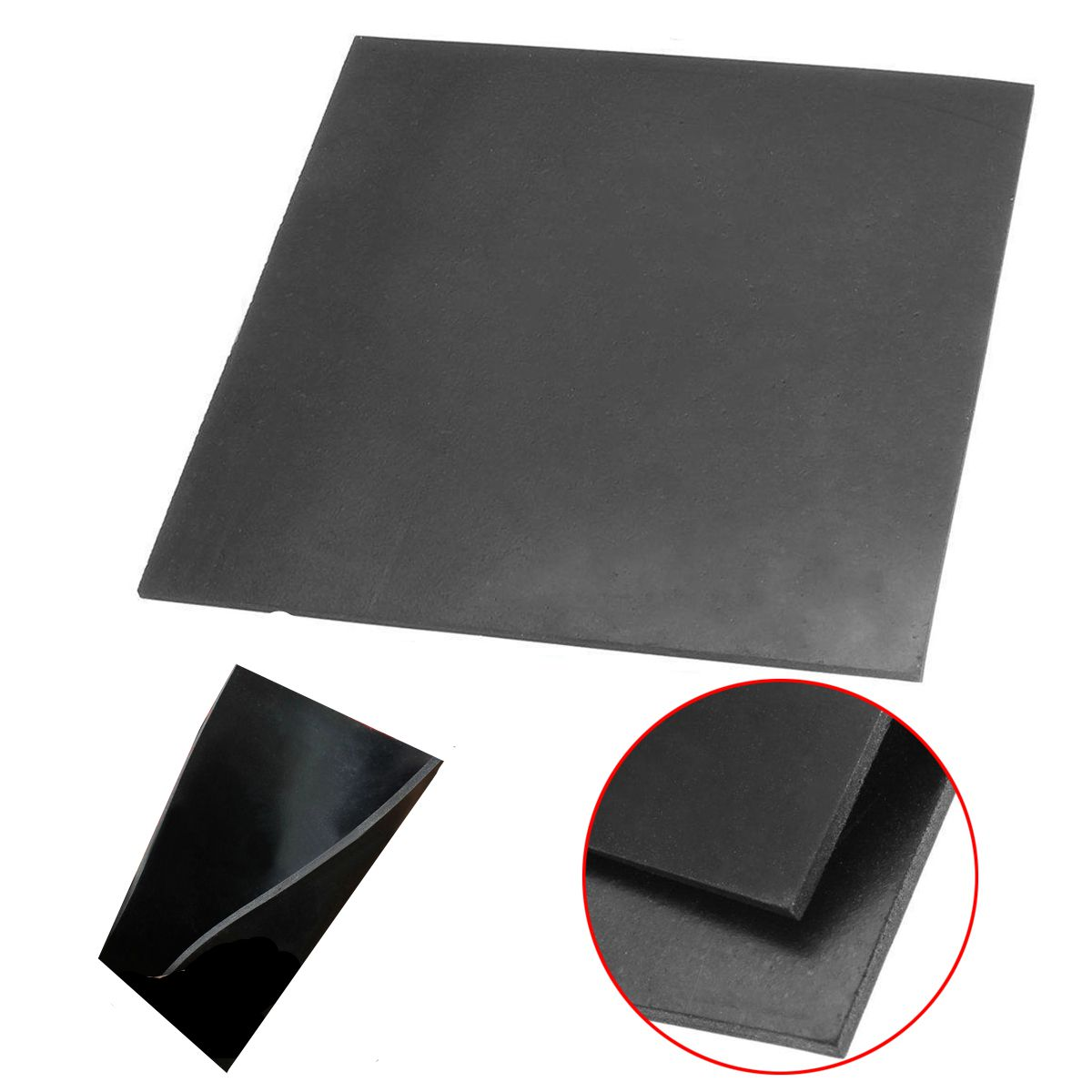 1mm thickness 500mm*500mm Viton Rubber sheet chemical resistance high temp