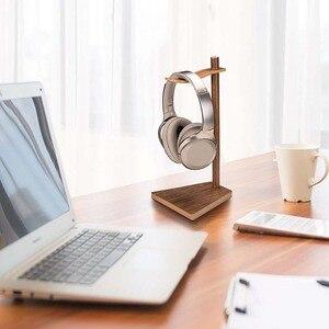 Image 3 - JINSERTA przenośne słuchawki stojak drewniany praktyczny uchwyt słuchawkowy zestaw słuchawkowy pokaż półka aluminiowy kątownik urządzenie pomocnicze