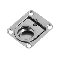 42 x 1 Pcs 42 x 36mm Durable Marine Stainless Steel Boat Deck Hatch Cabinet Drawer Lifting Handle Pull Ring Flush Mount Boat Hardware (5)