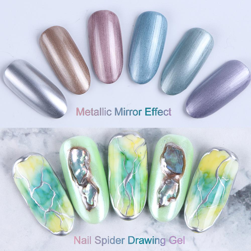 20g Mirror Nail Gel Polish For Nail Art Salon Wire Drawing Painting Gel Lacquer UV LED Lamp Soak Off Nail Art Tool in Nail Gel from Beauty Health