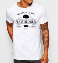 Peaky Blinders Mens T-shirt Gangster Print T Shirt Short Sleeve Hot Cotton Men Tee Shirts Black Style