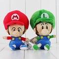 14 см 2 стили Новое Прибытие Высокого Качества Симпатичные Супер Марио луиджи Мягкие Плюшевые Super Mario Bros Кукла