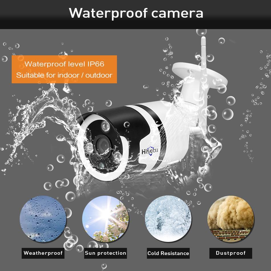 Hiseeu Wi-Fi Outdoor IP Camera 1080P 720P Waterproof 2.0MP 2