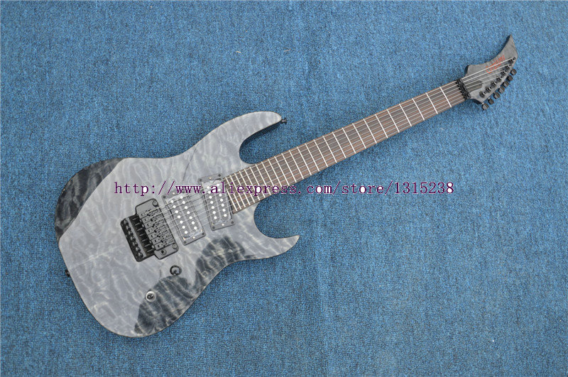 Human  China Custom Shop  String Electric Guitars Quilted Finish Guitar With Floyd Rose Tremolo china custom shop grey quilted guitar body 7 string electric guitar left handed available
