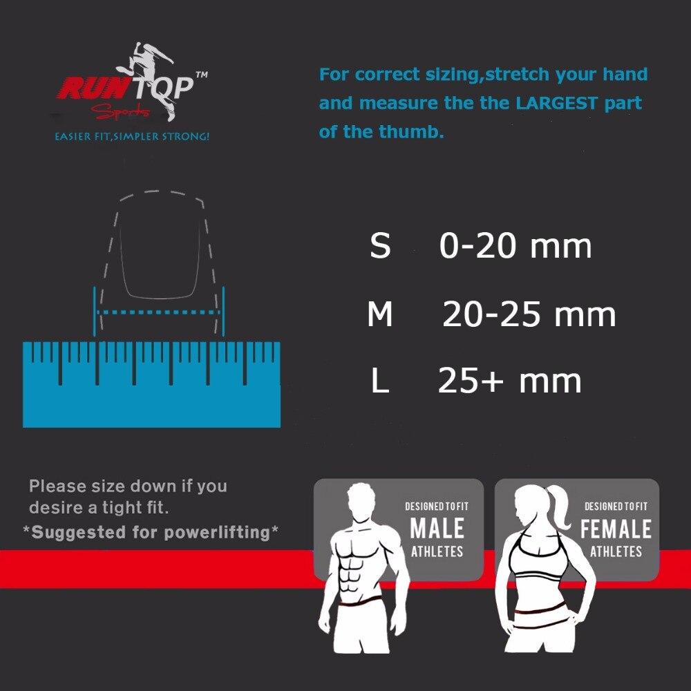 RUNTOP Finger Daumenhülsen Hakengriffschutz für Gewichtheben - Fitness und Bodybuilding - Foto 5