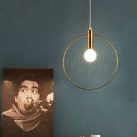 Modern   Pendant     Light   For Lobby Dining Room single ring Arts Decoration lighting larger Gold suspension   Pendant   Lamp E14   lights