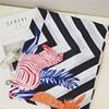 Women Cotton Scarf Zebra Pattern Bandanas Fashion Stripe W Tassels Shawls 180x105 Cm 1842