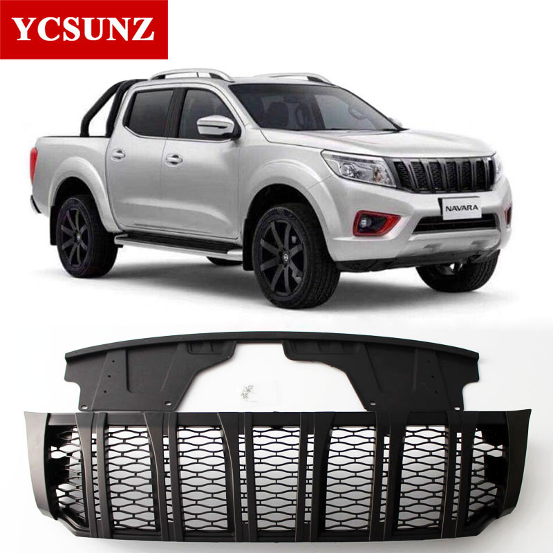 Front Grille For Nissan Navara Frontier 2018 Grill for Nissan Navara NP300 2015-2018 Raptor Grille Cover for Navara NP300 Ycsunz