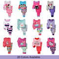 Caliente venta 100% algodón bebé primavera otoño ropa para niños niñas ropa de manga larga ropa encantadora del bebé pijamas traje