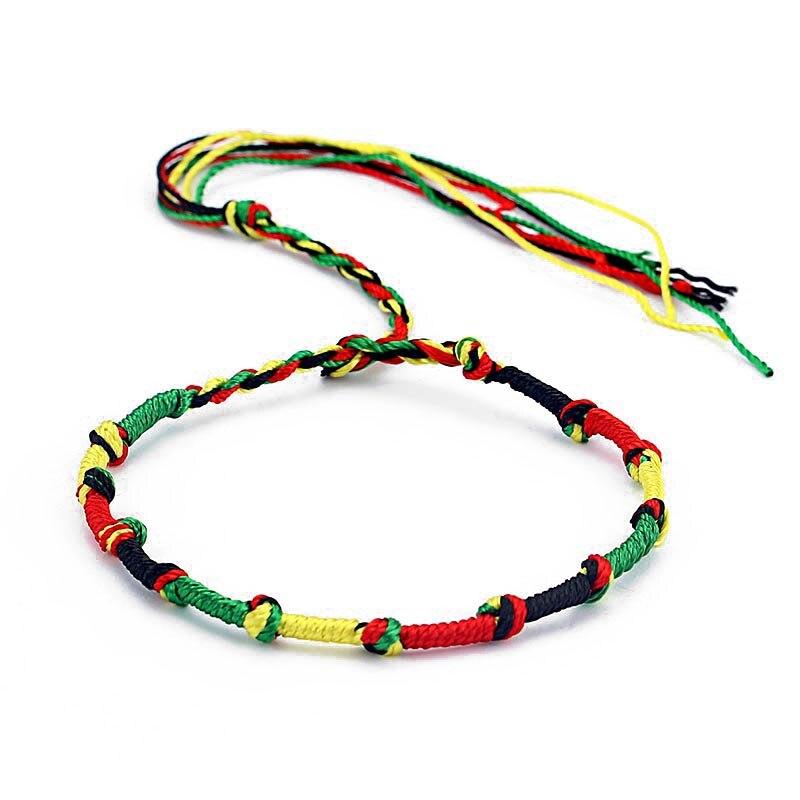 Ethnic Rasta Styled Weaved Friendship Bracelet Bangles & Bracelets