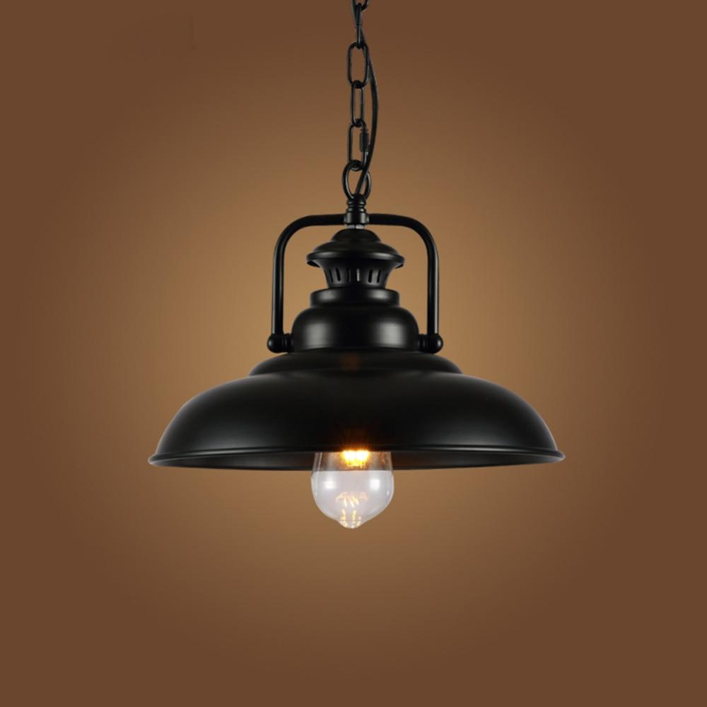 Vintage Wrought Iron Lid Pendant Lights Black Industrial Ceiling Pendant Lamps Loft Retro Hanging Light Fixture luminaria retro matte black iron ceiling light american industrial iron lights